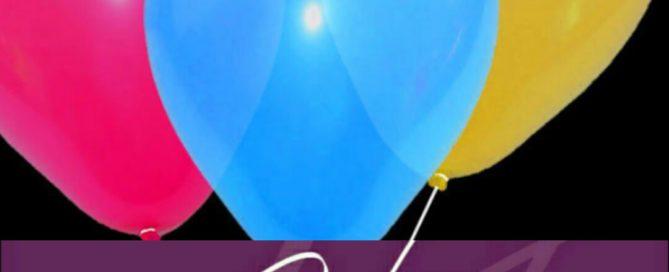 ballonnen om het tienjarig bestaan te vieren